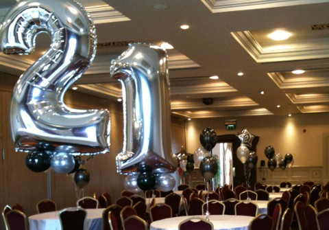 Party experts helium balloons party decorations in dublin for 21st birthday decoration packages