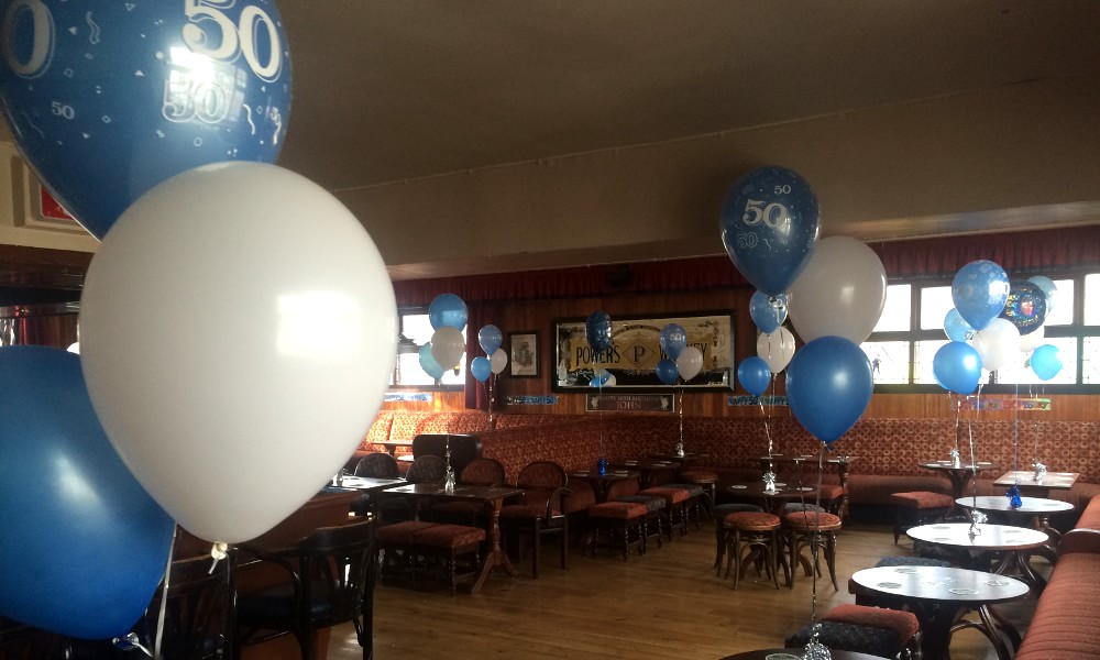 50th Birthday Party Helium Balloons In The Village Inn Crumlin