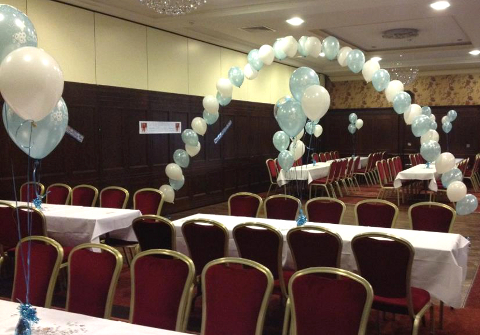 Baby Boys Christening Helium Balloons & Balloon Arch The Red Cow Dublin 12