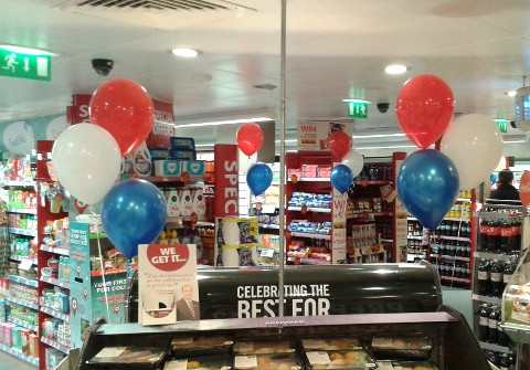 Corporate Helium Balloons in Supervalu Ranelagh