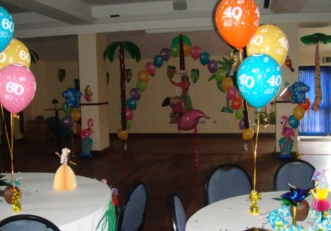 Hawaiian Themed Helium Balloons